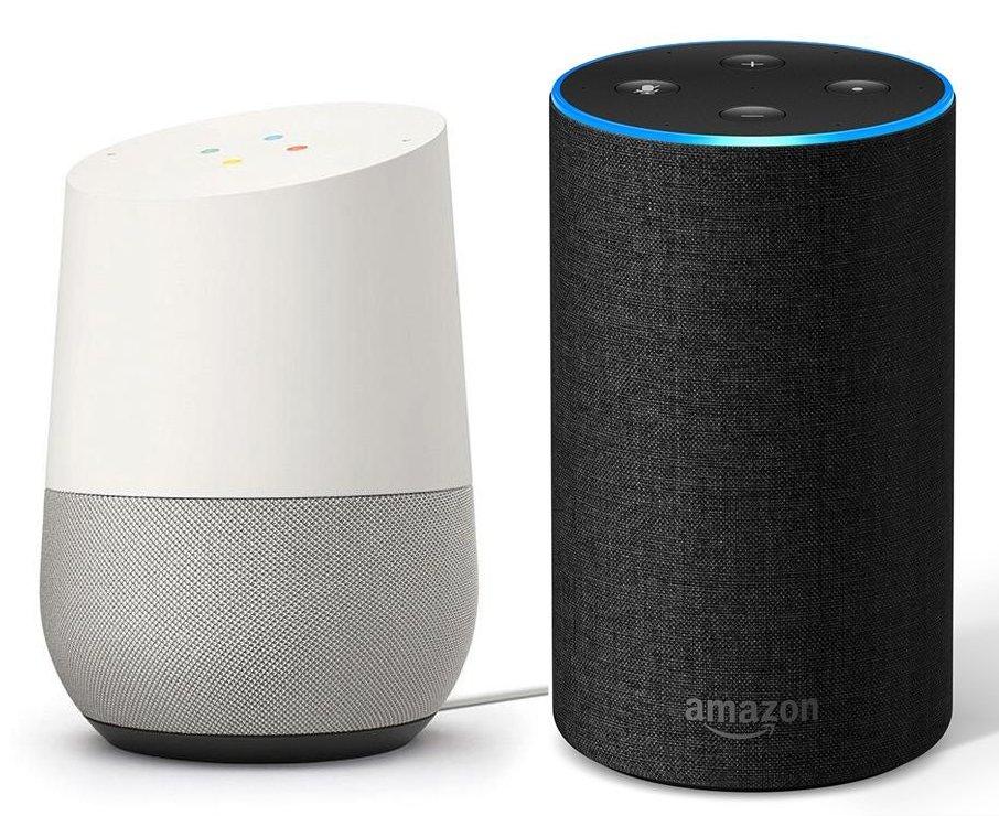 Google Home and Amazon Echo (Alexa)
