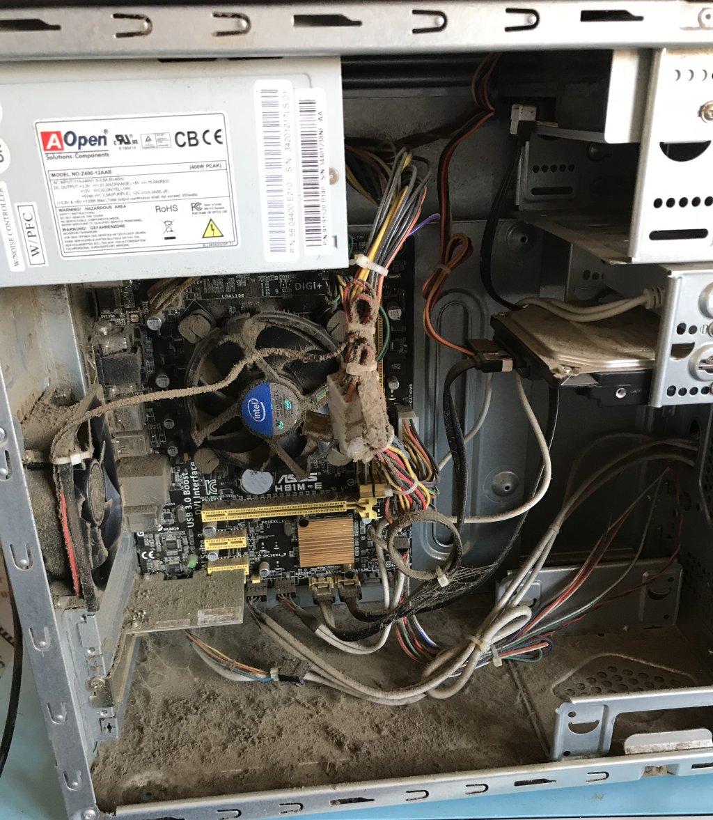 Very dusty desktop PC