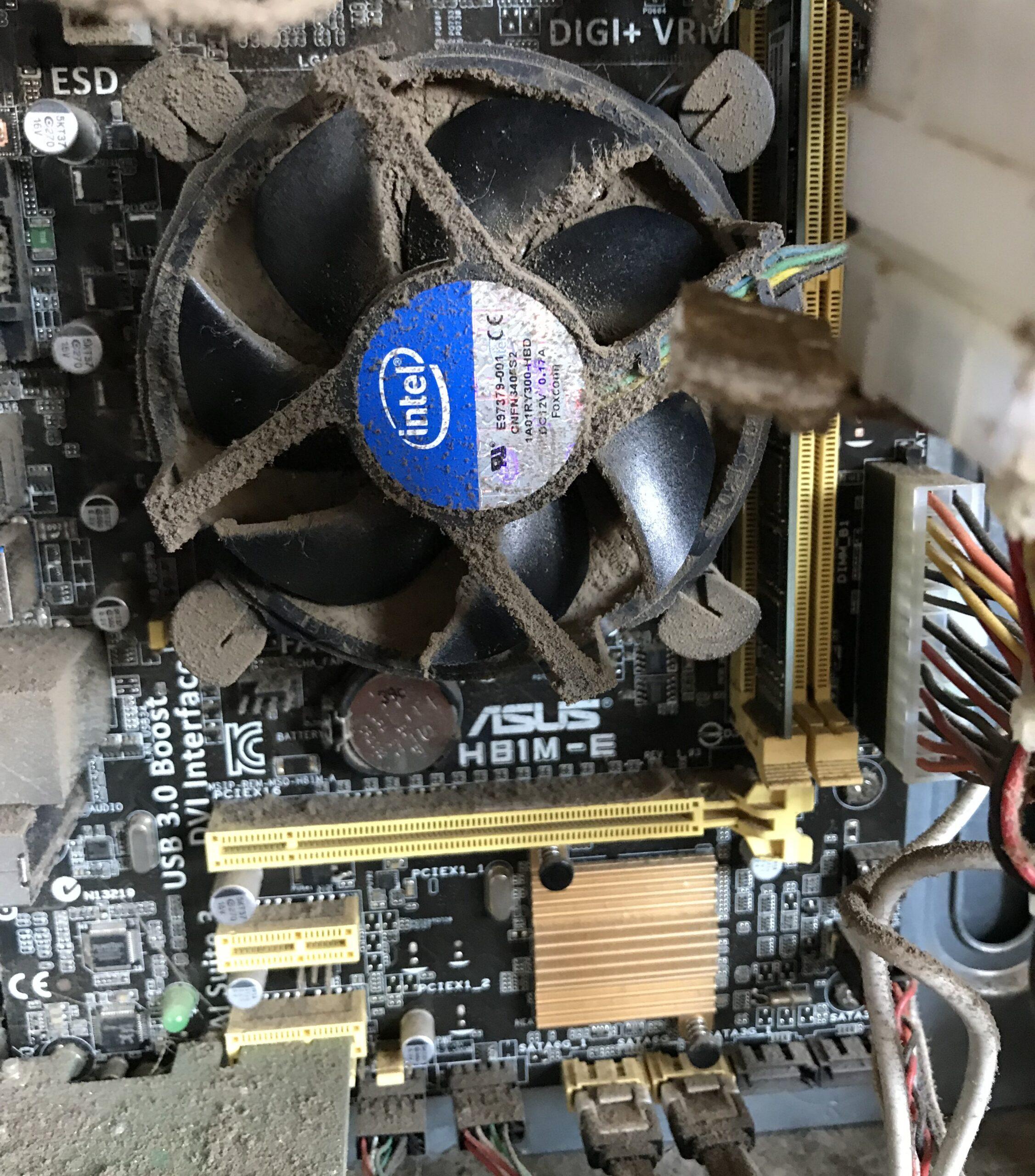 Dusty CPU fan